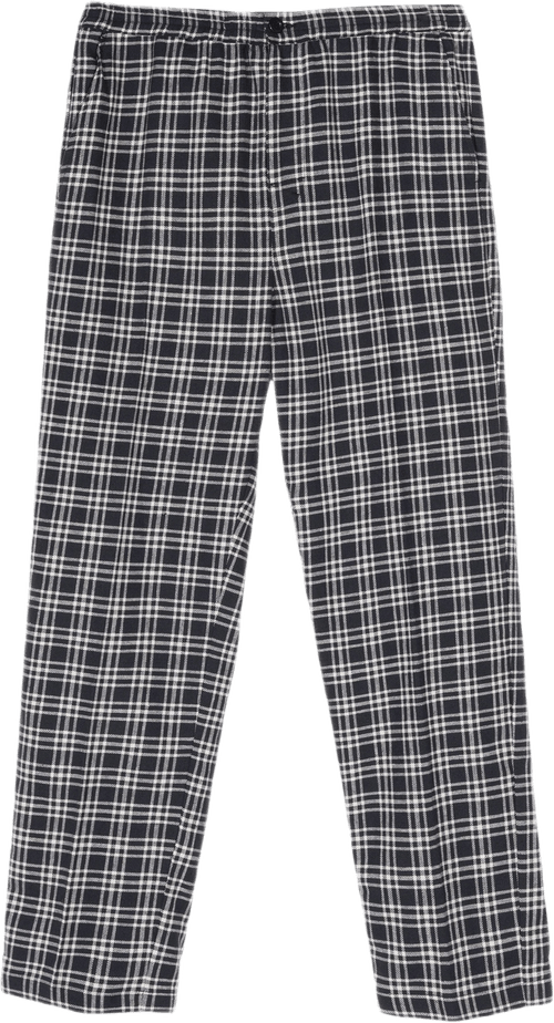 Plaid Linen Bryan Pant Blue