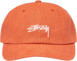 Textured Linen Low Pro Cap Orange