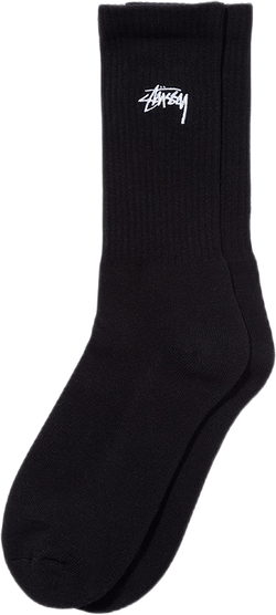 Small Stock Crew Socks Black