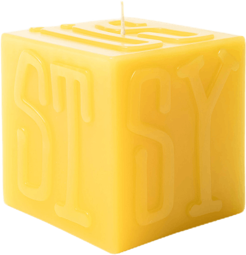 Cube Candle Yellow