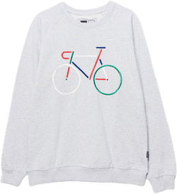 Malmoe Color Bike Sweatshirt Gray
