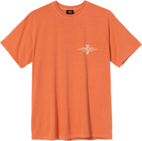 Skull Wings Tee Orange