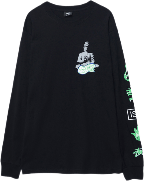 Buddha Long Sleeve Tee Black