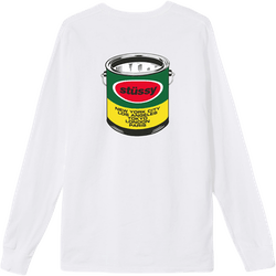 Paint Can Long Sleeve Tee White