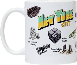 Nyc Skate Tourist Mug Multi