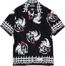 Aloha . Rooster / R-shirt . Ss Black