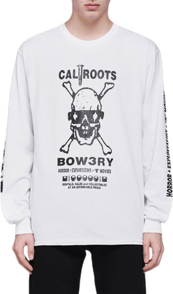 X Caliroots Long Sleeve Tee White