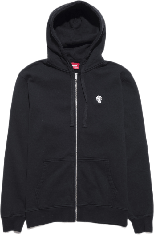Palm Patch Zip Hoodie Black