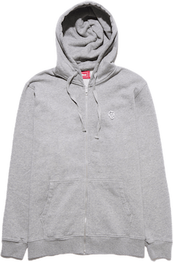 Palm Patch Zip Hoodie Gray