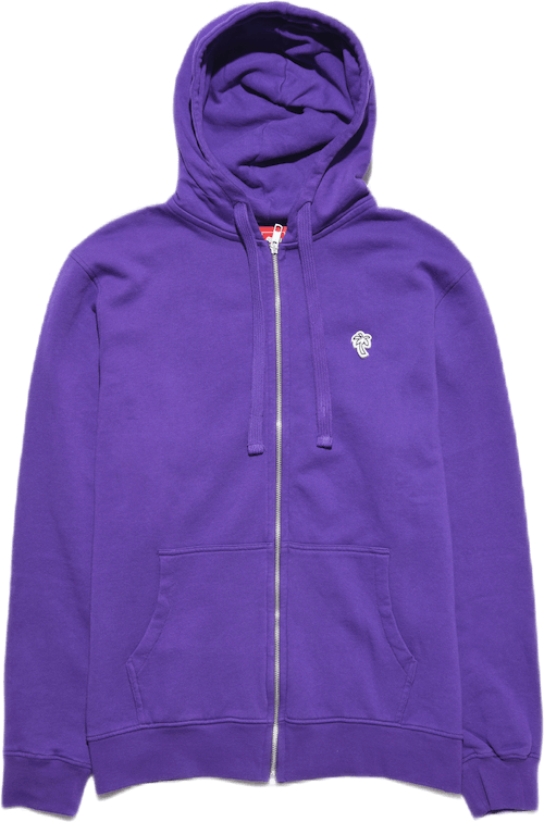 Palm Patch Zip Hoodie Purple