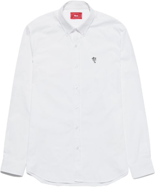 Poplin Palm Shirt White