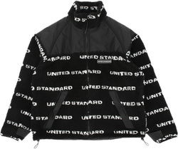 Fleece Logo Jacket Black