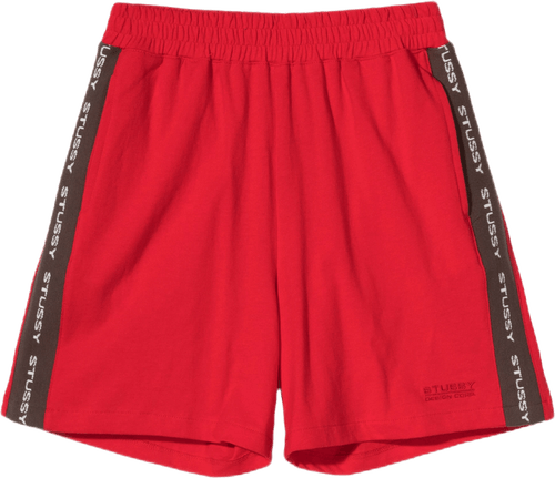 W Rib Logo Shorts Red