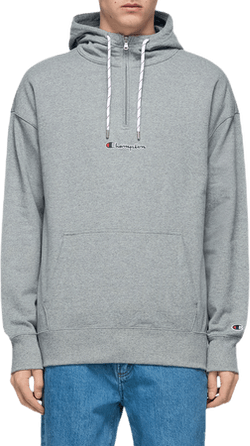 Half Zip Hooded Sweatshirt Gray