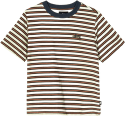 W Printed Stripe Tee Green