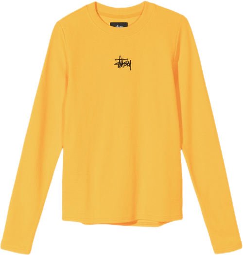 W Baby Rib Long Sleeve Tee Orange