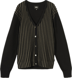 Stripe Cardigan Black