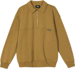 W Back Panels Half Zip Gold