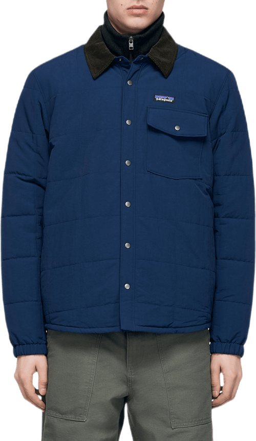 Isthmus Quilted Shirt Jacket Blue