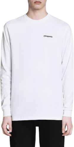 P-6 Logo Long Sleeve Tee White