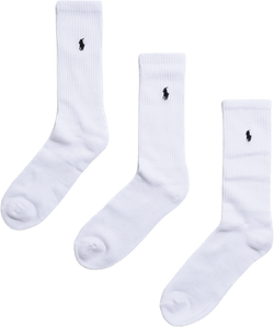 3-pack Crew Pony Player Socks White