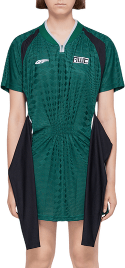 Tricot Front Tie Dress Green