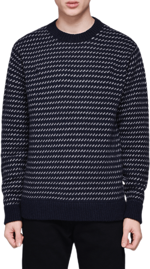 Recycled Wool Sweater Blue