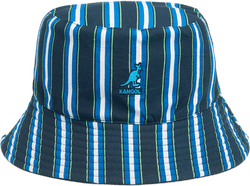 Double Pattern Bucket Hat Blue