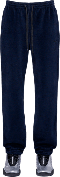 Bonded Velour Sweatpants Blue