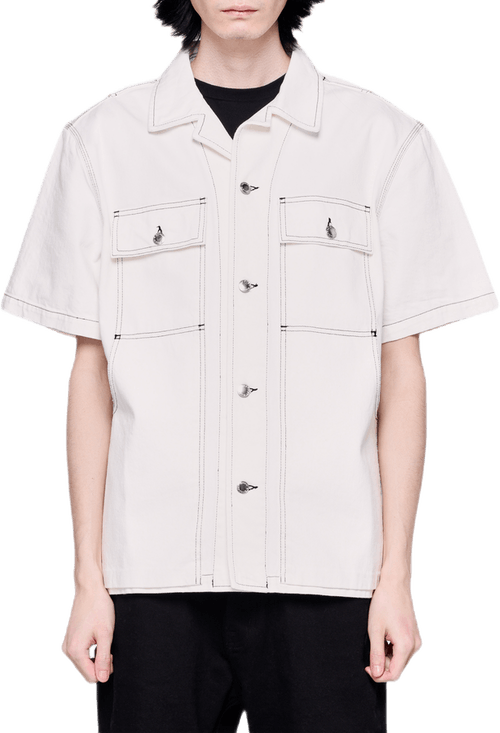 Overdyed Denim Shirt White