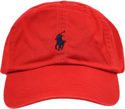 Cotton Chino Ball Cap Red