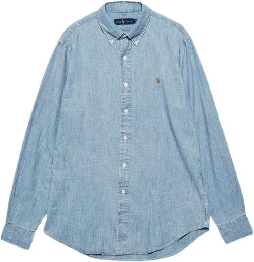 Classic Fit Chambray Shirt Blue