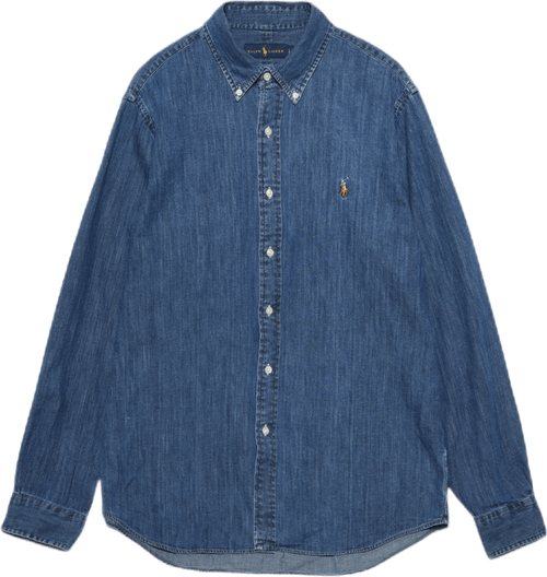 Classic Fit Denim Shirt Blue