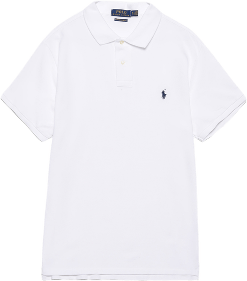 Custom Slim Fit Cotton Mesh Po White