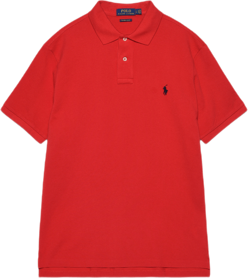 Custom Slim Fit Cotton Mesh Po Red