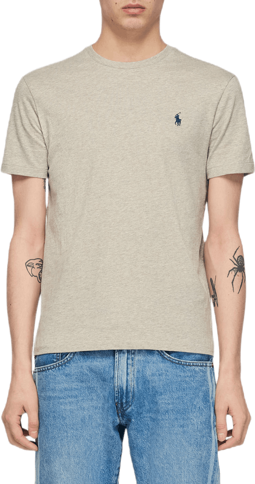 Custom Slim Fit Cotton T-shirt Gray