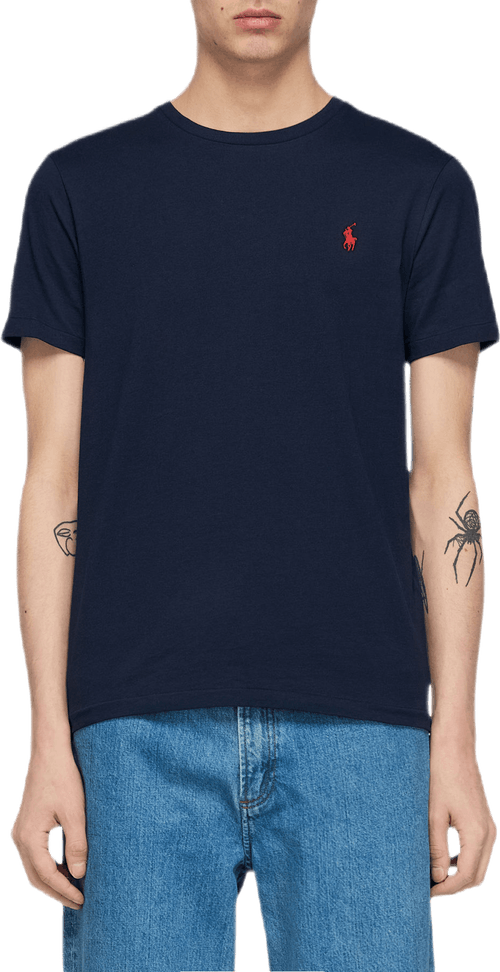 Custom Slim Fit Cotton T-shirt Blue