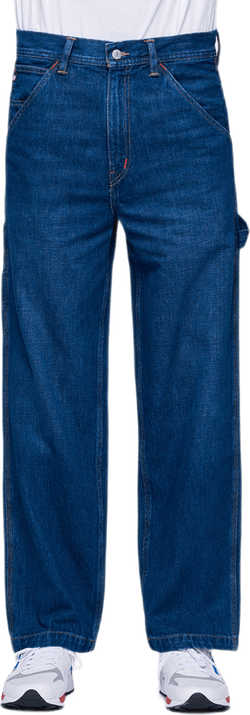 Denim Utility Pants Blue