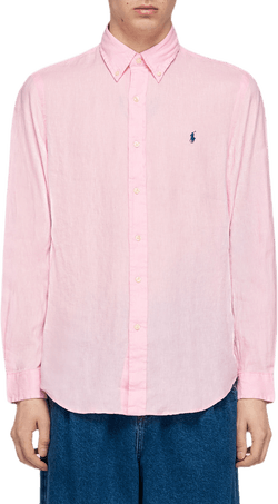Long Sleeve Sport Shirt Pink