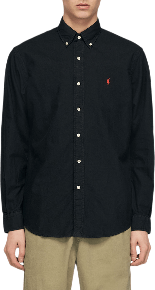 Custom Fit Oxford Shirt Black
