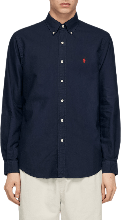 Custom Fit Oxford Shirt Blue