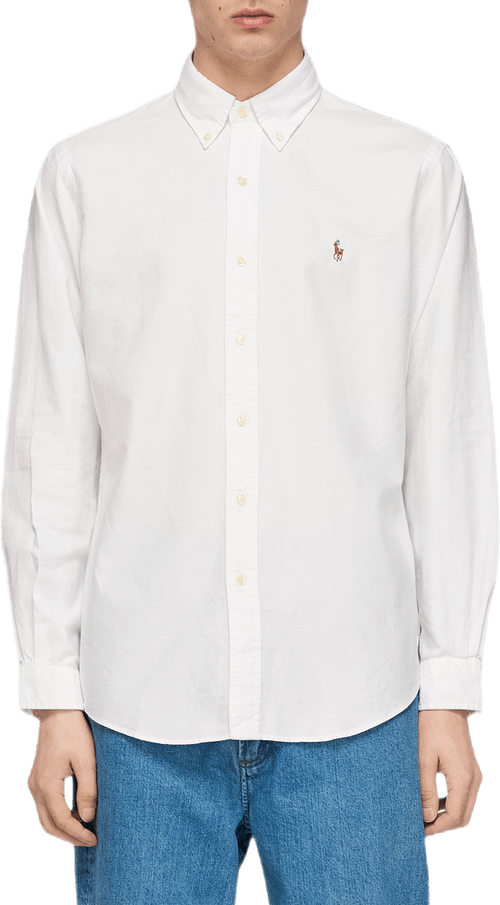 Custom Fit Oxford Shirt White