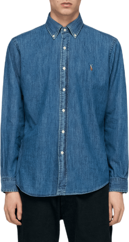 Custom Fit Denim Shirt Blue