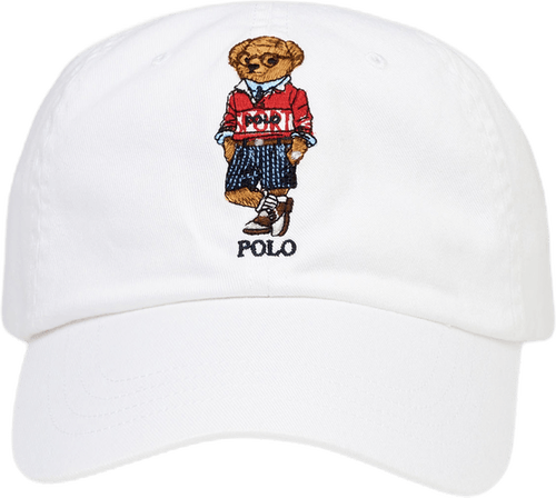 Rugby Bear Chino Ball Cap White