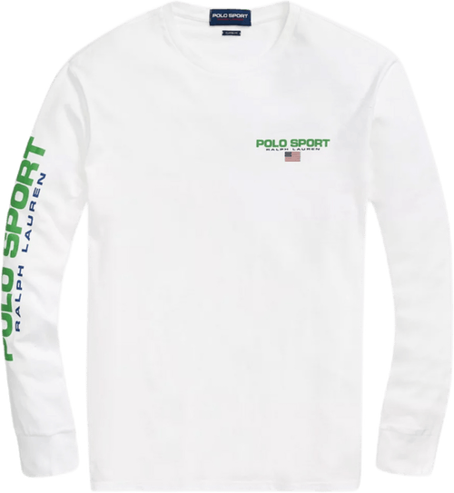 Polo Sport Long Sleeve T-shirt White