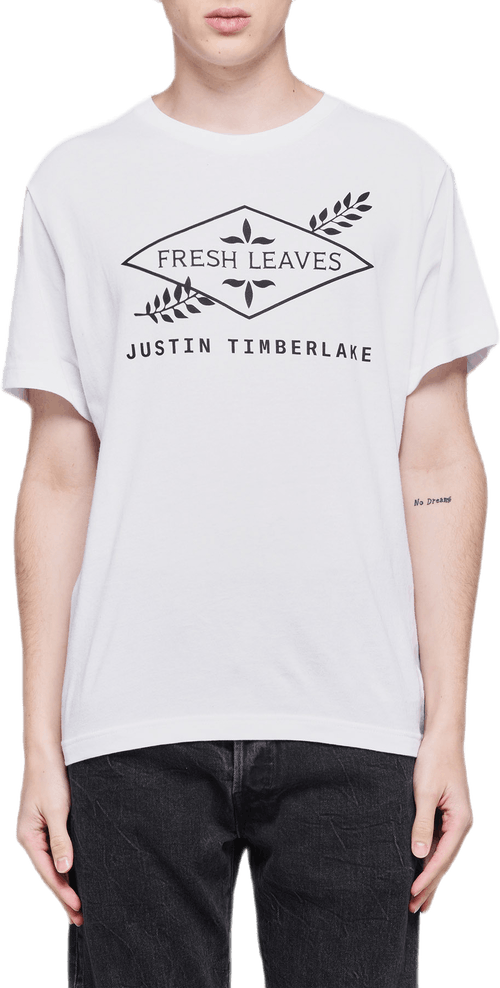 Fresh Leaves Tee White