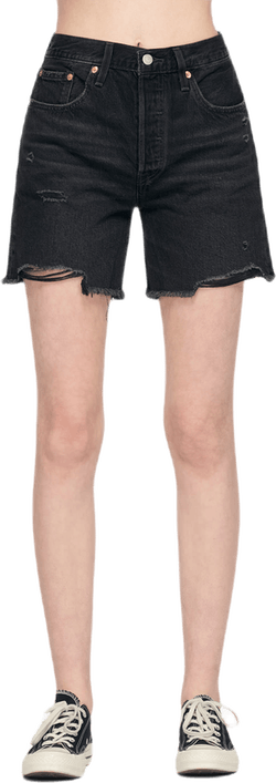 501 Mid Thigh Shorts Black