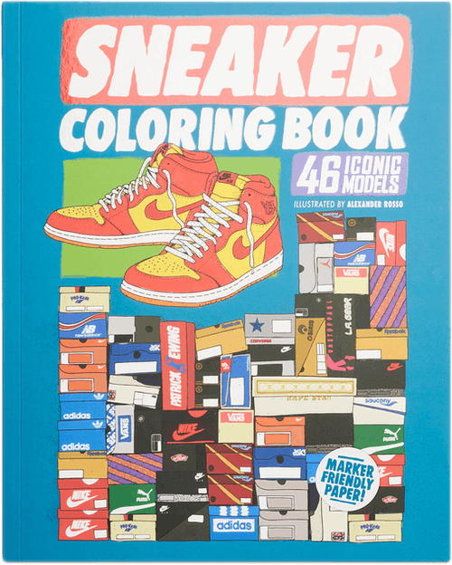 Sneaker Coloring Book Multi
