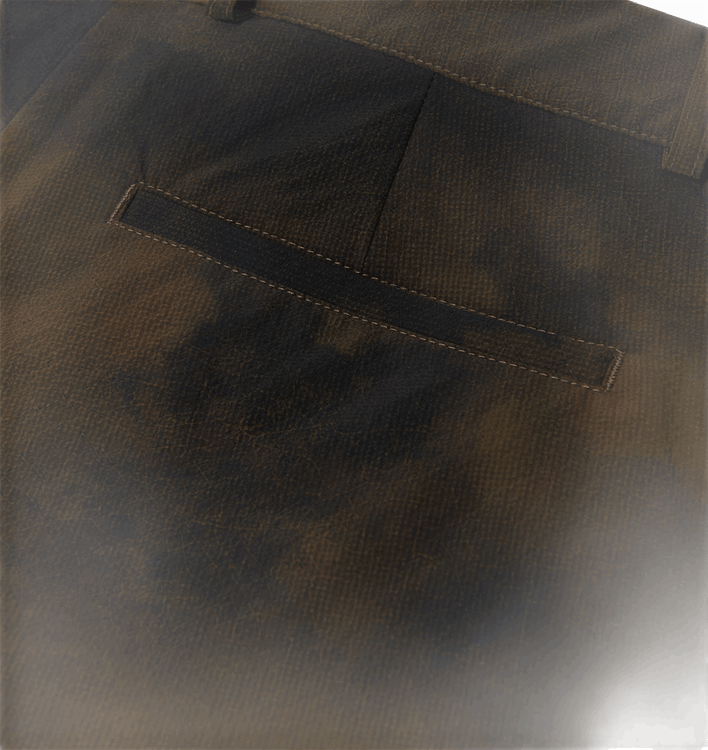 Terrain Print Pants Brown