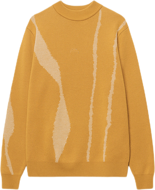 Terrain Jacquard Knit Jumper Yellow
